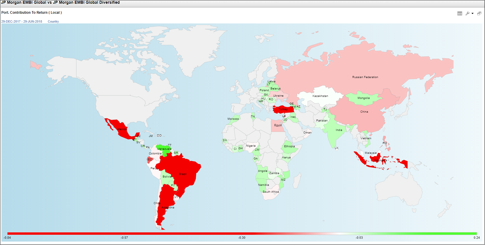 Geographic Heat Map of Contribution