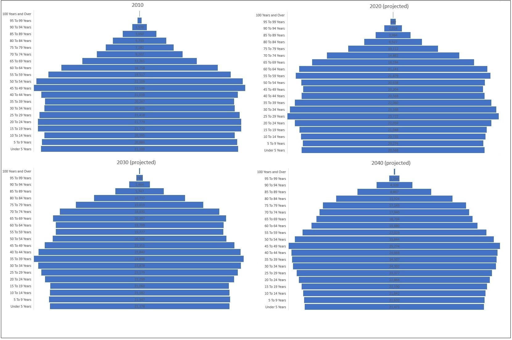 Age group fan chart