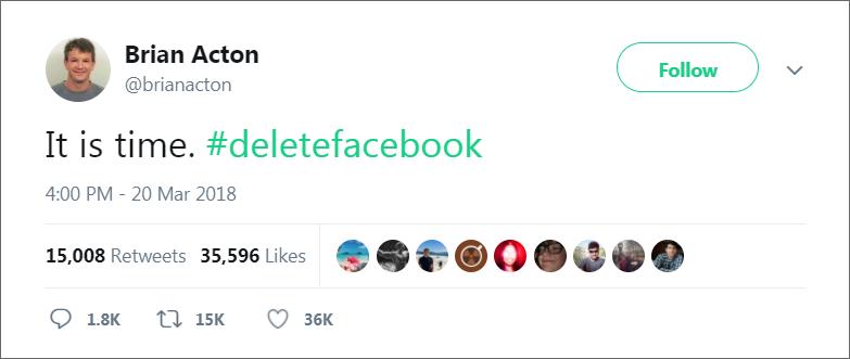 Brian Acton Tweet Delete Facebook