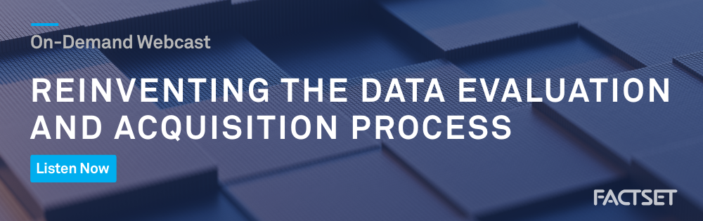 REINVENTING THE DATA EVALUATION AND ACQUISITION PROCESS | Insight CTA | CTS | FY 19