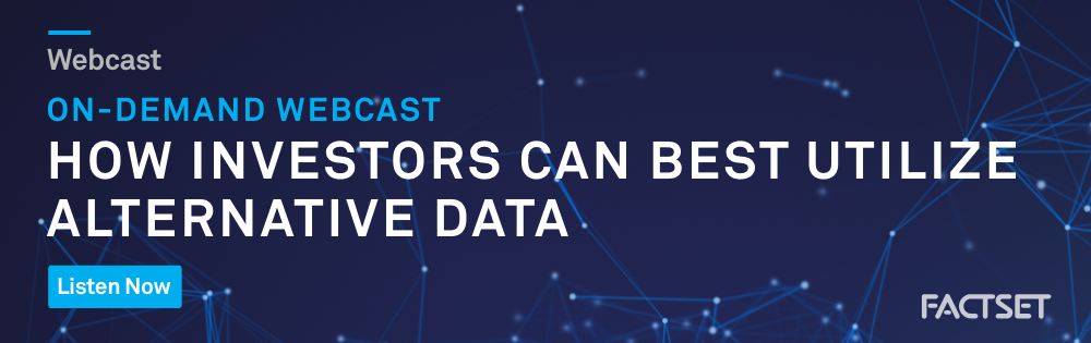 Watch Our Webcast: How Investors Can Best Utilize Alternative Data